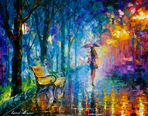 Misty Umbrella by Leonid Afremov