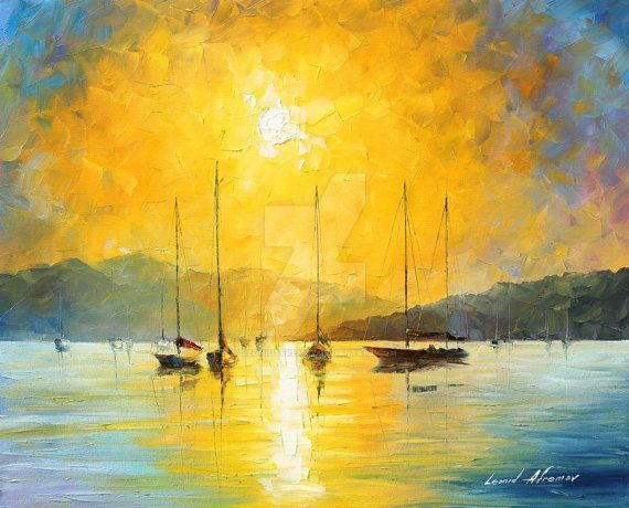 Baja California oil painting by Leonid Afremov by Leonidafremov