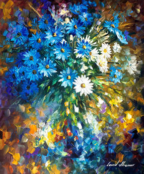 Bouquet of happiness by Leonid Afremov