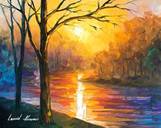 Yellow River by Leonid Afremov