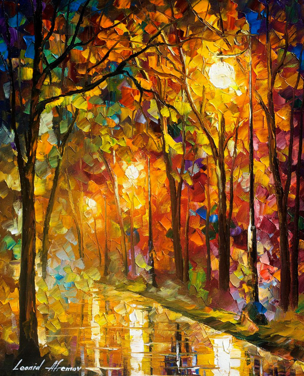 Colors Of Sophistication by Leonid Afremov by Leonidafremov