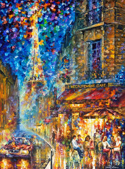 Paris - Recruitement Cafe by Leonid Afremov