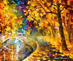 Around the bridge oil painting by Leonid Afremov