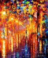 Dreaming rain by Leonid Afremov by Leonidafremov