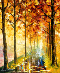 Hidden path by Leonid Afremov by Leonidafremov