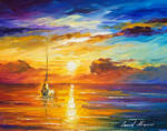 Lonely sea 2 by Leonid Afremov