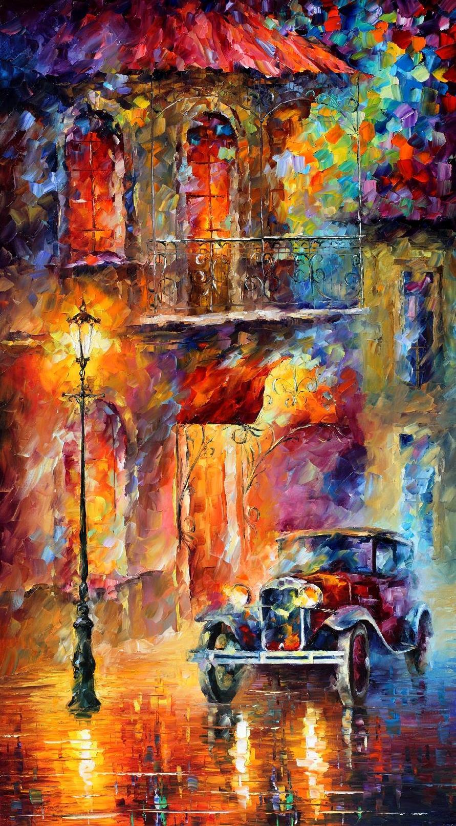 Old Car by Leonid Afremov