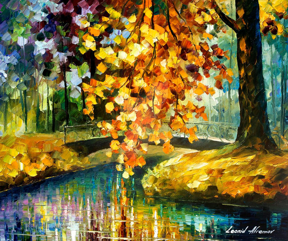 A day of feelings oil painting by Leonid Afremov by Leonidafremov