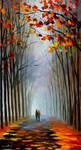 Autumn fog 3 by Leonid Afremov