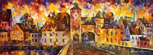 The city of hidden dreams by Leonid Afremov by Leonidafremov