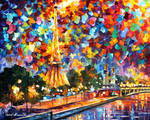 Mysterious night in Paris by Leonid Afremov