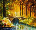 Morning bridge by Leonid Afremov