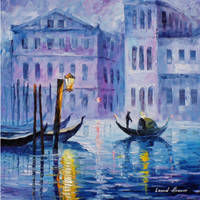 Mystery of Venice by Leonid Afremov by Leonidafremov