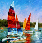 Catamaran by Leonid Afremov