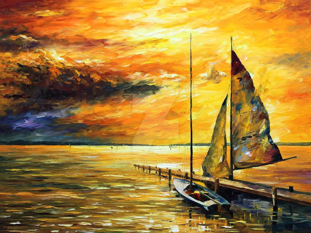 SAILING AWAY by Leonid Afremov by Leonidafremov
