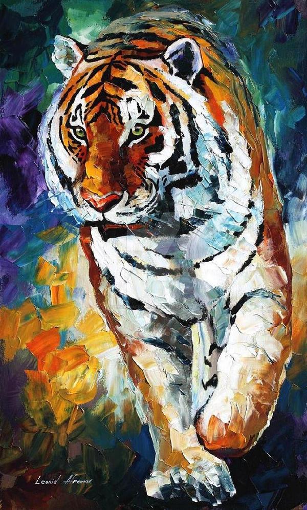 BENGAL TIGER by Leonid Afremov by Leonidafremov