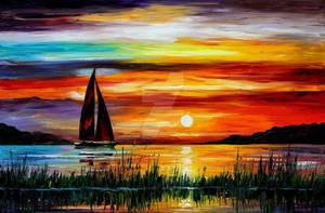 FLORIDA - LAKE OKEECHOBEE by Leonid Afremov