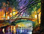 ENIGMATIC BRIDGE by Leonid Afremov