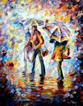 NIGHT RAIN by Leonid Afremov