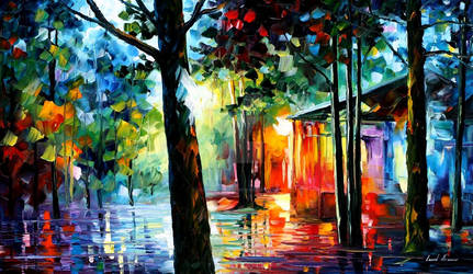 SUNLIGHT IN THE DROPS by Leonid Afremov