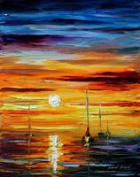 Sunset by Leonid Afremov by Leonidafremov