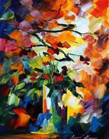 Oriental Bouquet by Leonid Afremov by Leonidafremov
