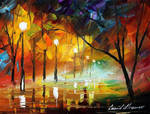 Dying night by Leonid Afremov