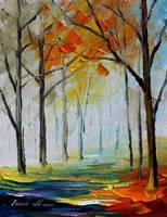 Quiet path by Leonid Afremov by Leonidafremov