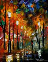 Alley 3 by Leonid Afremov by Leonidafremov