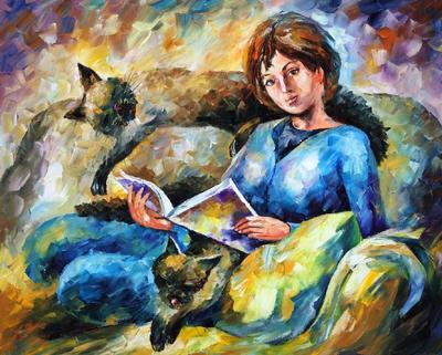 My cats by Leonid Afremov by Leonidafremov