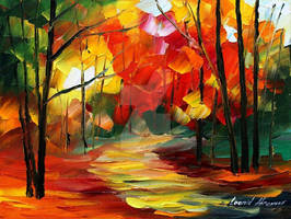 Small path by Leonid Afremov by Leonidafremov