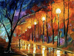 Rain before Christmas by Leonid Afremov