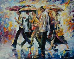 Today I forgot my umbrella by Leonid Afremov by Leonidafremov