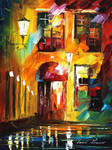 Where only cats don't sleep by Leonid Afremov