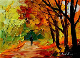 Fall forest by Leonid Afremov by Leonidafremov