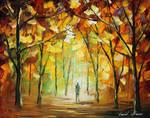 Yellow park by Leonid Afremov