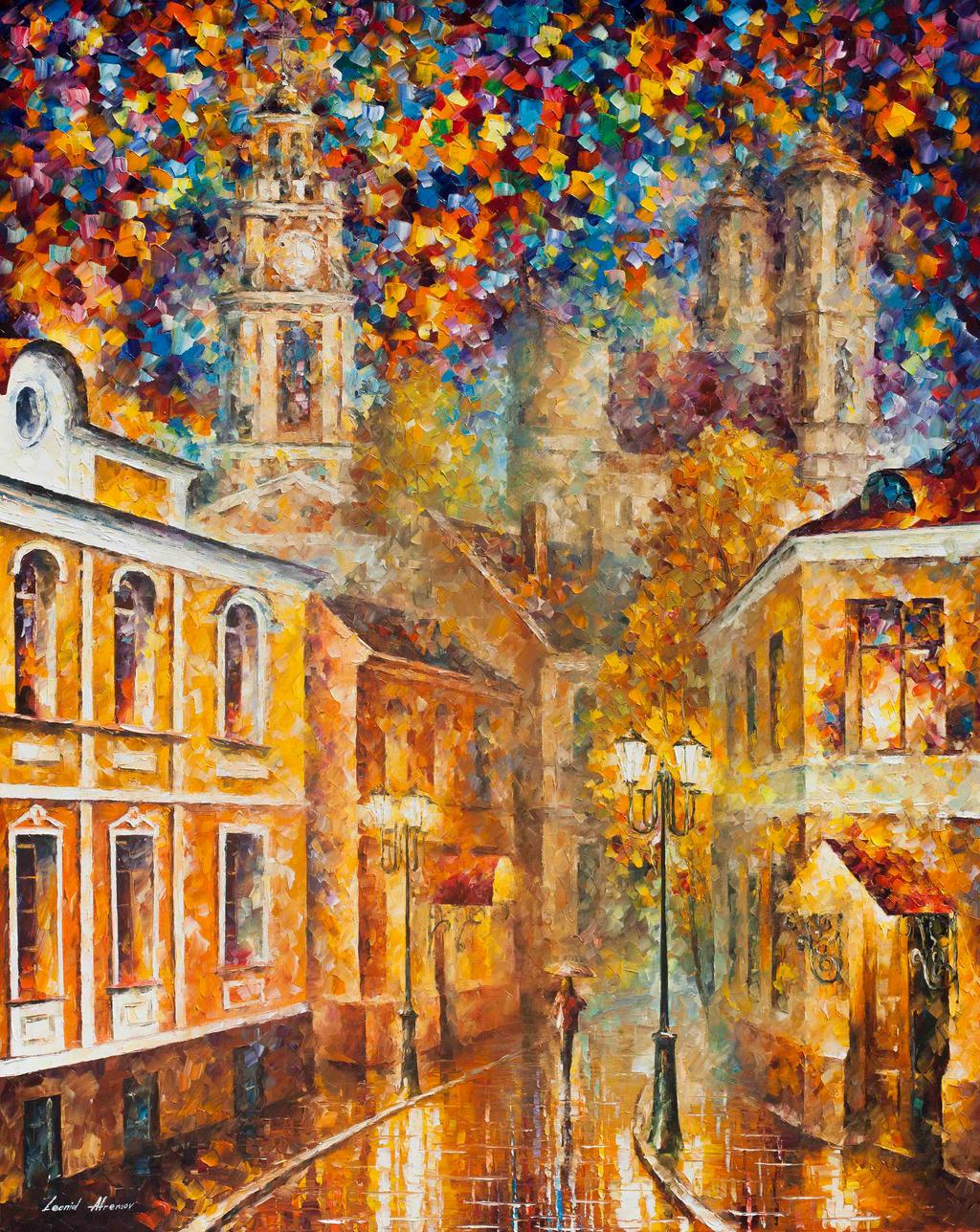 Gold City by Leonid Afremov