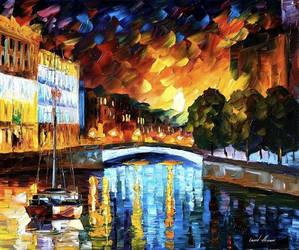 Saint Petersburg by Leonid Afremov by Leonidafremov