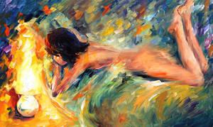 Nude woman by Leonid Afremov by Leonidafremov
