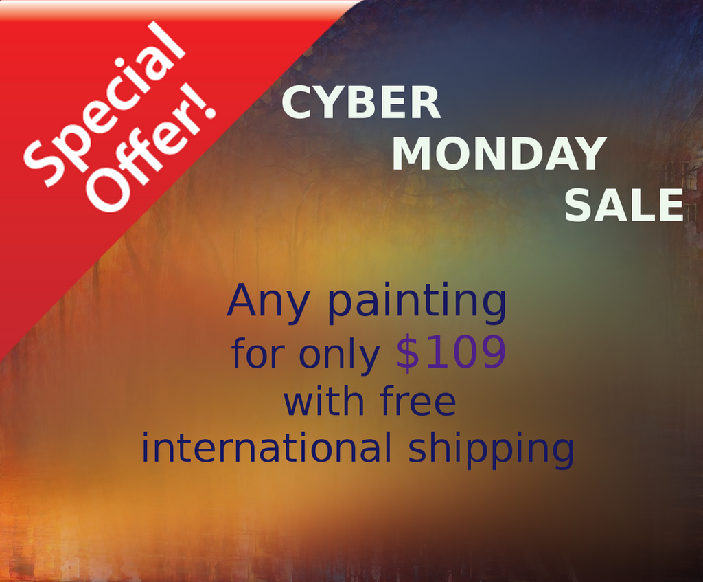 Cyber Monday Deal by Leonid Afremov by Leonidafremov
