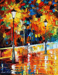 Lonely bicycle by Leonid Afremov