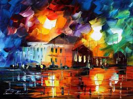 Last storm by Leonid Afremov by Leonidafremov