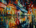 Loneliness in the city by Leonid Afremov