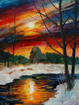 December Winter Sunset by Leonid Afremov