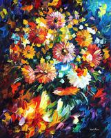 Magic Bouquet by Leonid Afremov by Leonidafremov