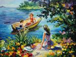 On The Lake by Leonid Afremov