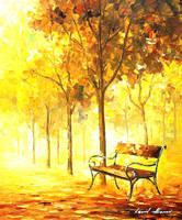 Autumn Vacation by Leonid Afremov by Leonidafremov