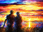 Fishing For Two by Leonid Afremov