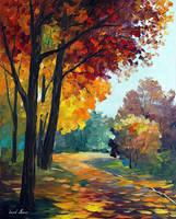Touch Of The Fall by Leonid Afremov by Leonidafremov