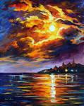 Sunset Flames by Leonid Afremov